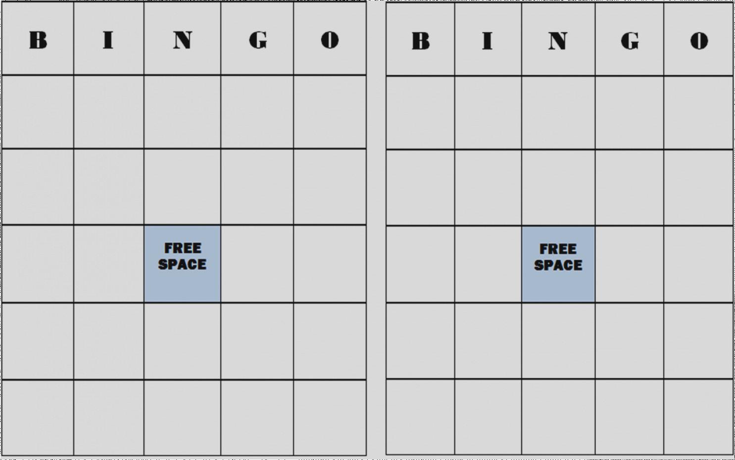 Latest Of Blank Bingo Cards Template Pumpkin Get Free Printable Page - Free Printable Blank Bingo Cards