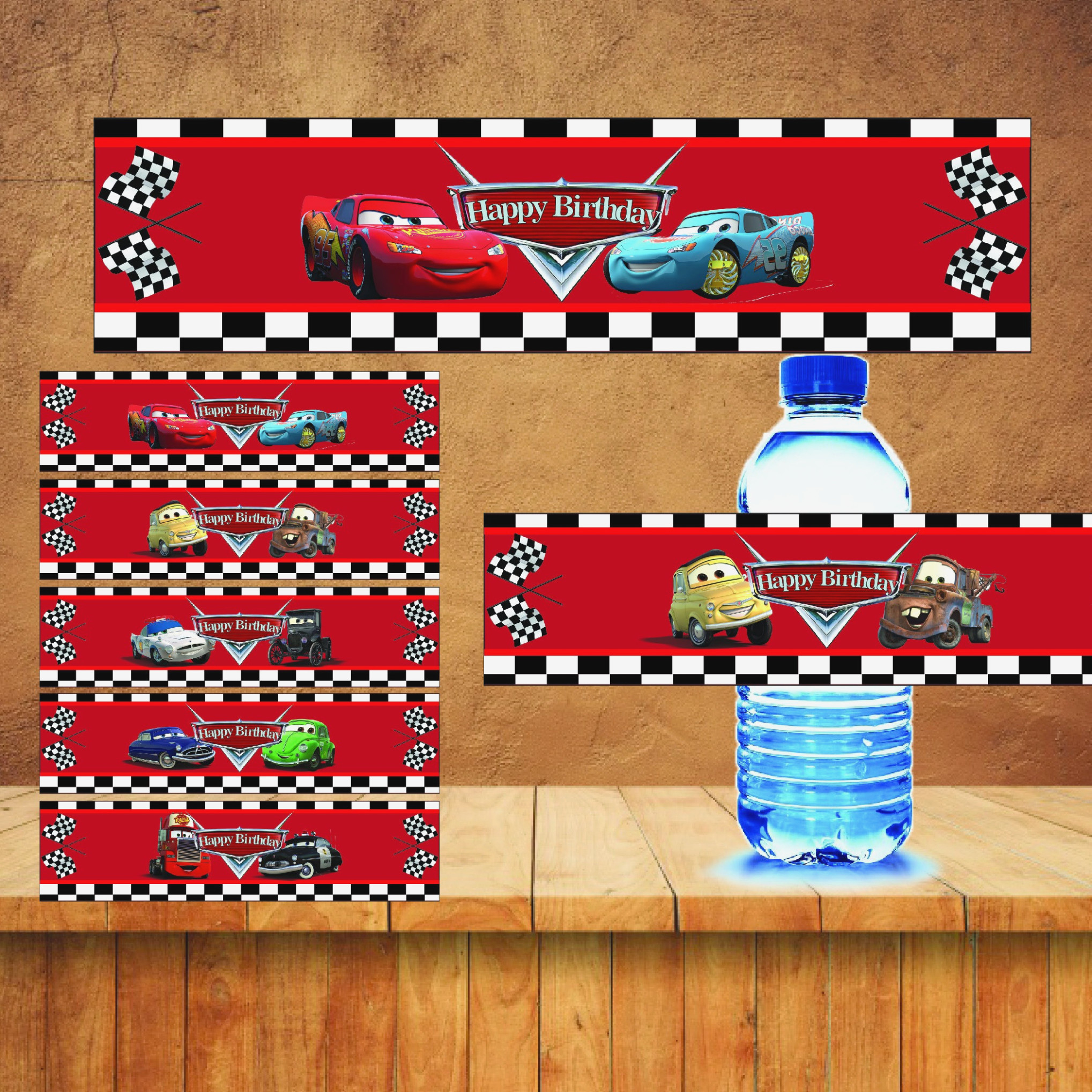 Learn All About Cars Water | Label Maker Ideas Information - Free Printable Cars Water Bottle Labels