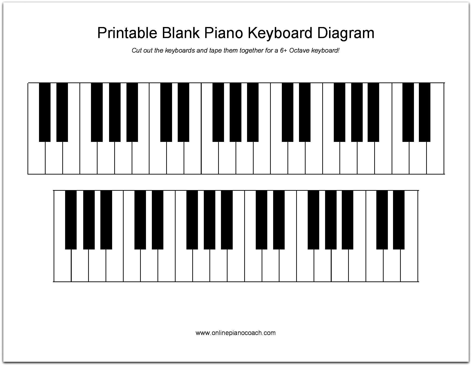 Learn Note Names Quick And Easy With Free, Printable Piano Keyboard - Free Printable Keyboard Stickers