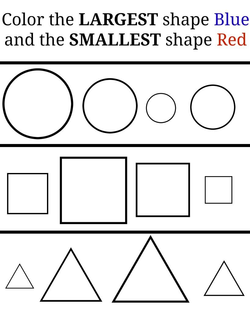 Learning Small And Large – Free Printables. Great Free Printable - Large Printable Shapes Free