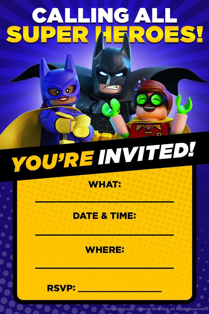 Lego Batman Birthday Party Invitations Nice Lego Batman Birthday - Lego Batman Party Invitations Free Printable