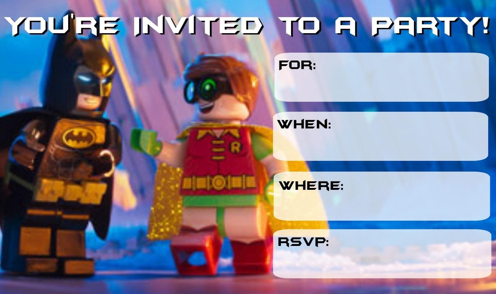 Lego Batman Printable Invitations – Jowo - Lego Batman Invitations Free Printable