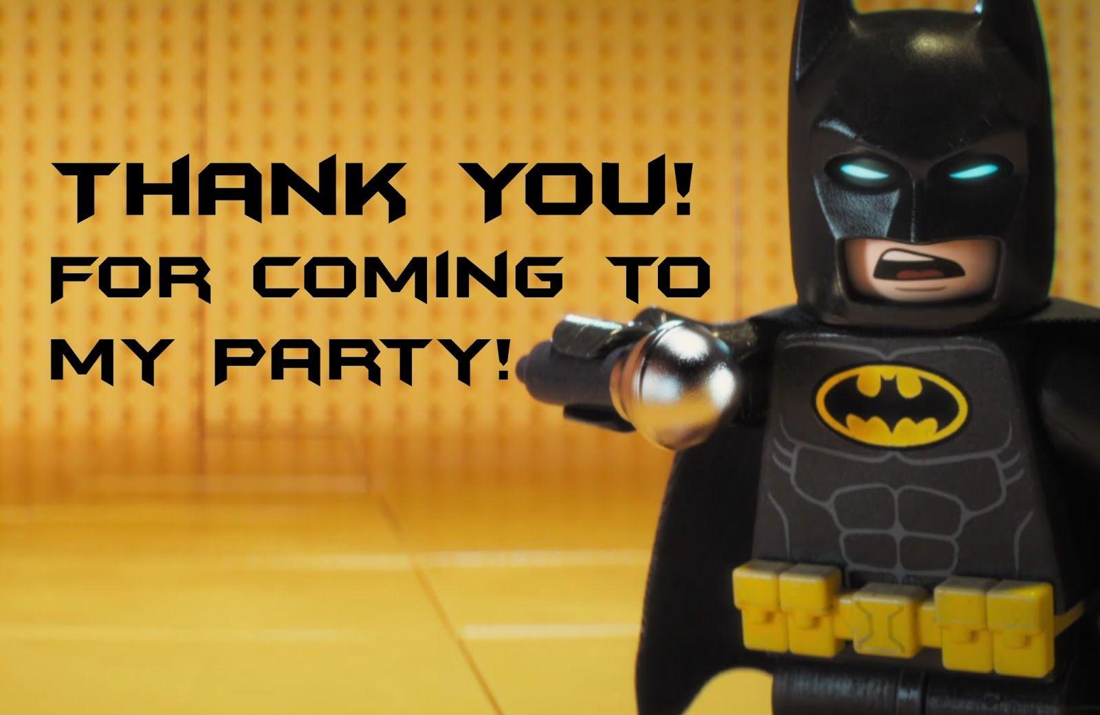 Lego Batman Thank You Cards | Lego Batman-Super Heros Printables - Lego Batman Invitations Free Printable