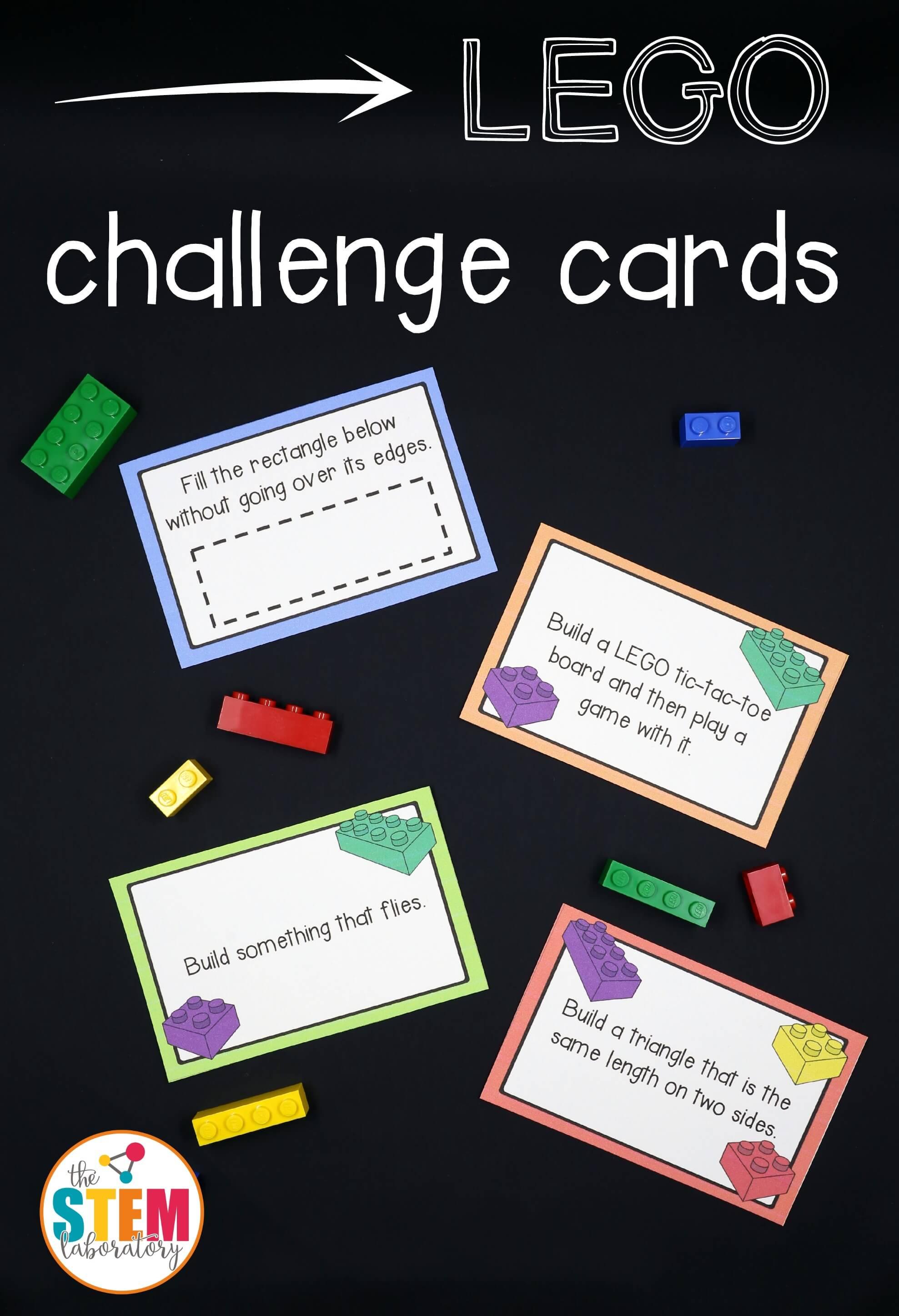 Lego Challenge Cards - The Stem Laboratory - Free Printable Kindergarten Task Cards