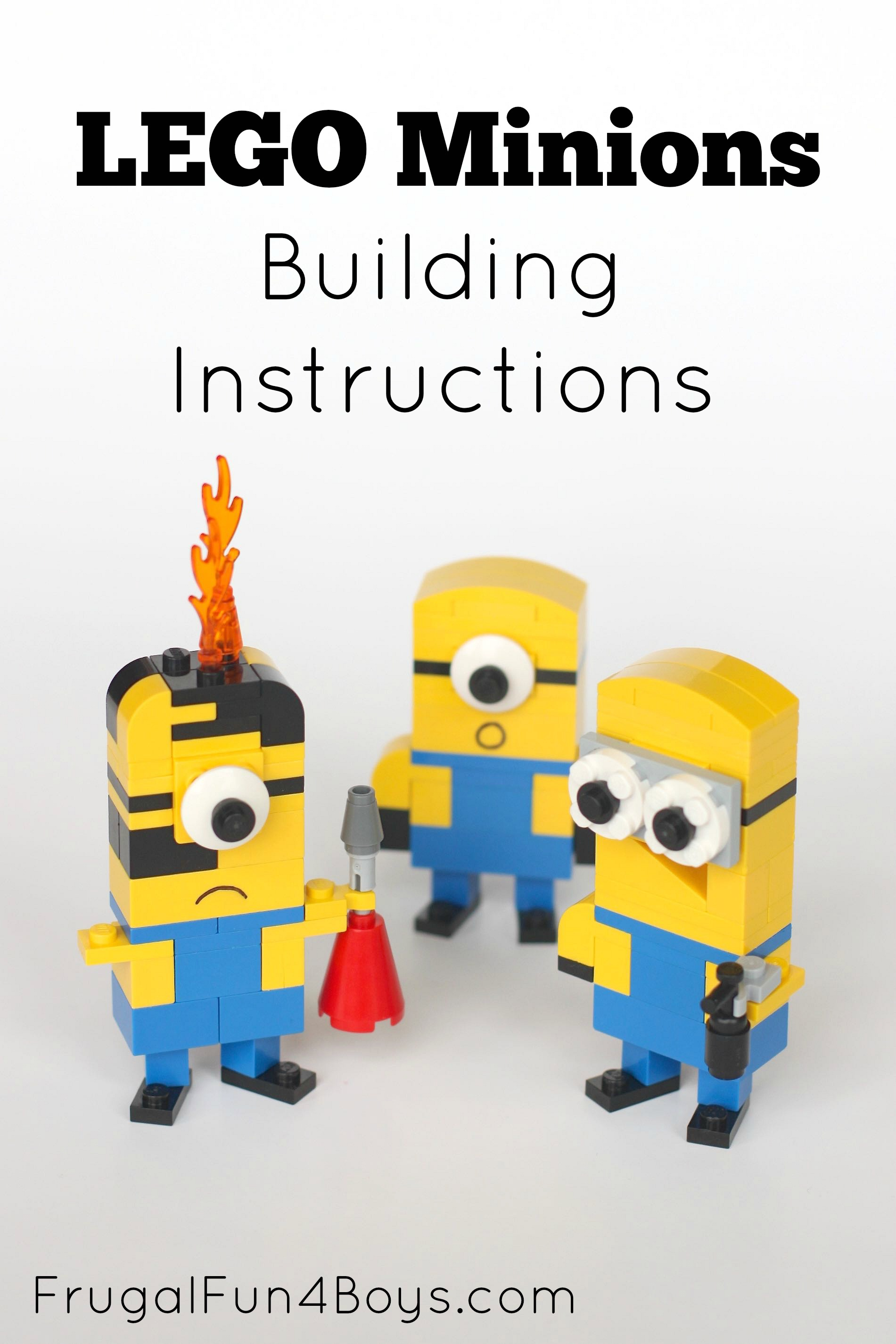 Lego Minions Building Instructions - Frugal Fun For Boys And Girls - Free Printable Lego Instructions