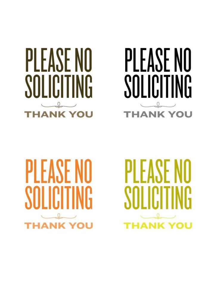 Free Printable No Soliciting Sign