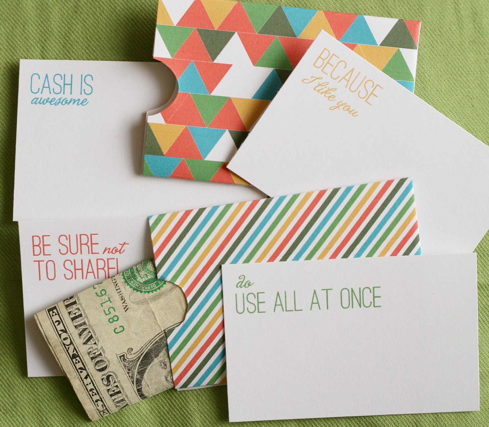 Lemon Squeezy: Day 12: Cash Holder Free Printables | Untie The - Free Printable Christmas Money Holder Cards