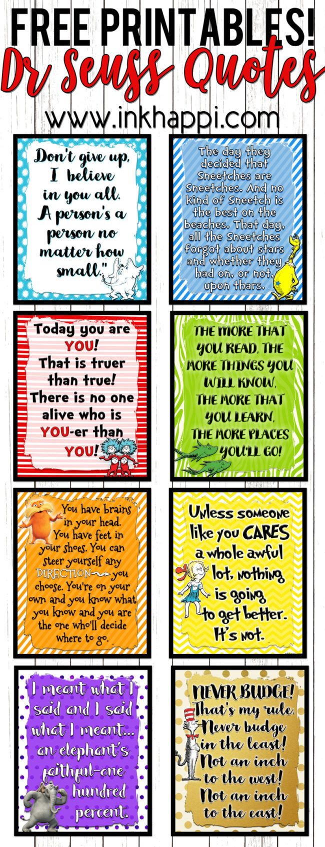 Lets Celebrate A Birthday With These Dr Seuss Printables | Free - Free Printable Dr Who Birthday Card