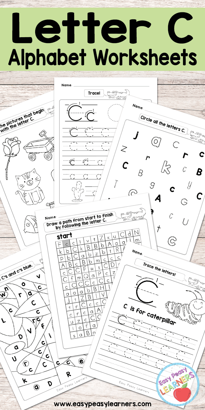 Letter C Worksheets - Alphabet Series - Easy Peasy Learners - Free Printable Letter Recognition Worksheets