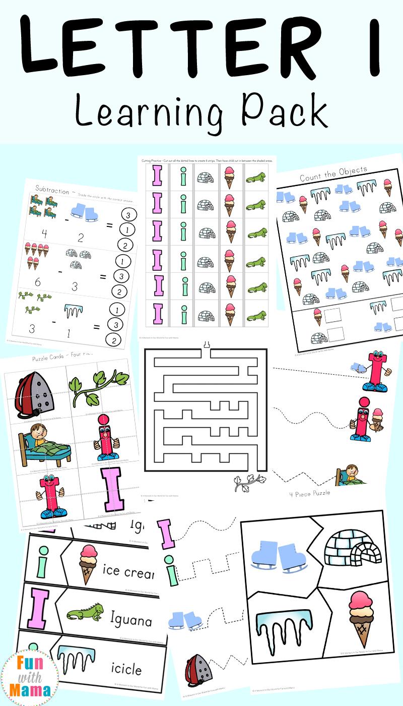 Letter I Worksheets + Activities For Preschool - Fun With Mama - Free Printable Activities For Preschoolers