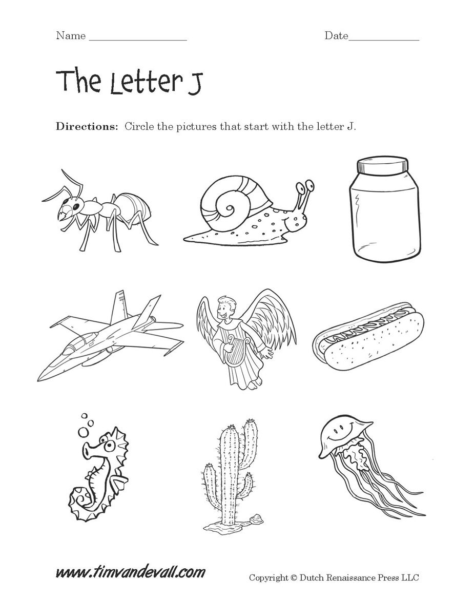 Letter J Worksheets | Preschool Alphabet Printables - Free Printable Letter J