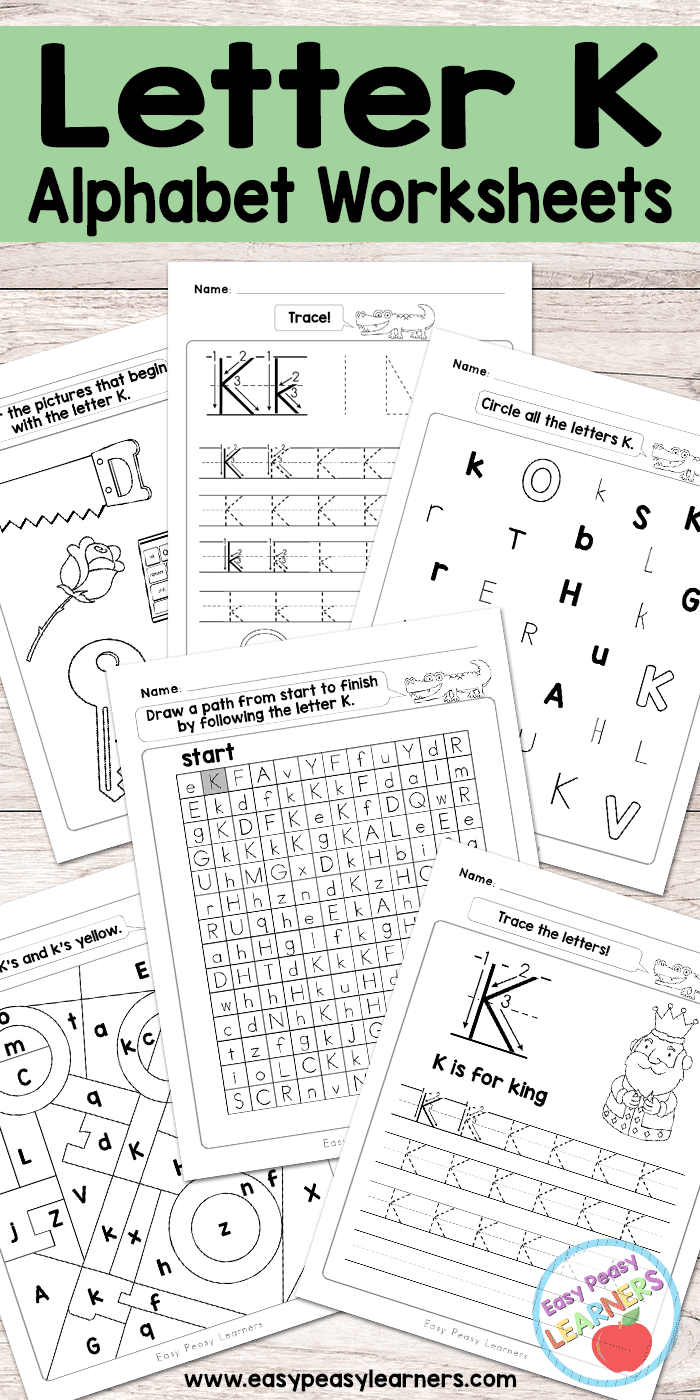 Letter K Worksheets - Alphabet Series - Easy Peasy Learners - Free Printable Letter K Worksheets