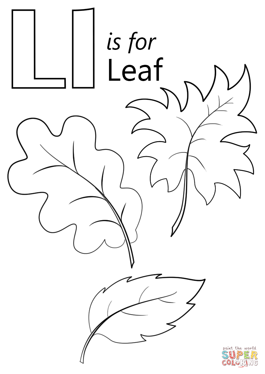 Letter L Is For Leaf Coloring Page | Free Printable Coloring Pages - Free Printable Leaf Coloring Pages