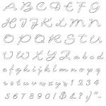 Letter Number Stencils Printable Refrence Free Alphabet Cover Large   Free Printable Calligraphy Letter Stencils