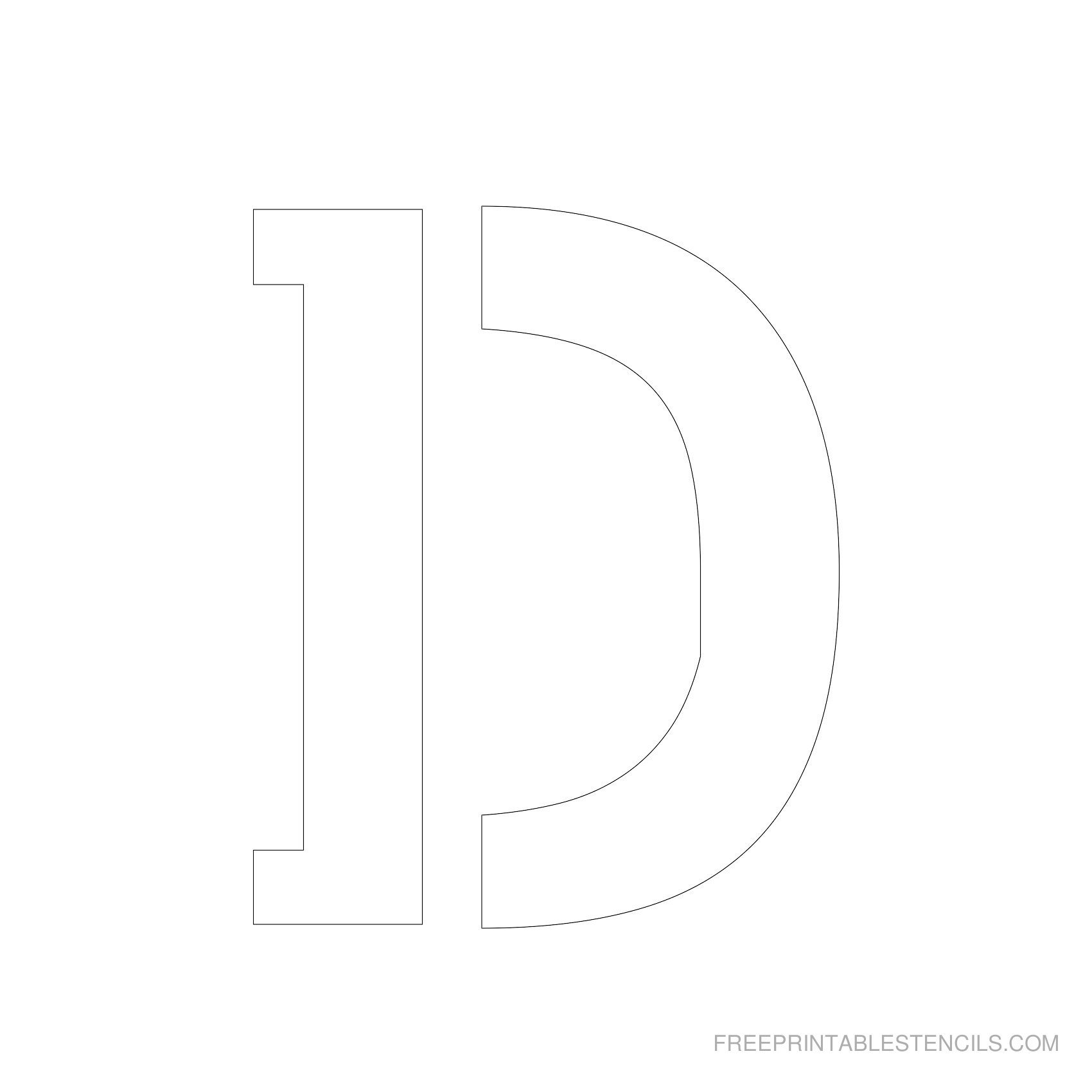 Letter Stencils To Print | Free Printable Stencils - Free Printable Letter Templates