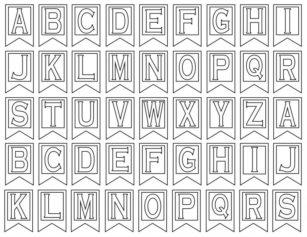 Letter Templates For Banners - Rehau.hauteboxx.co - Free Printable Whole Alphabet Banner