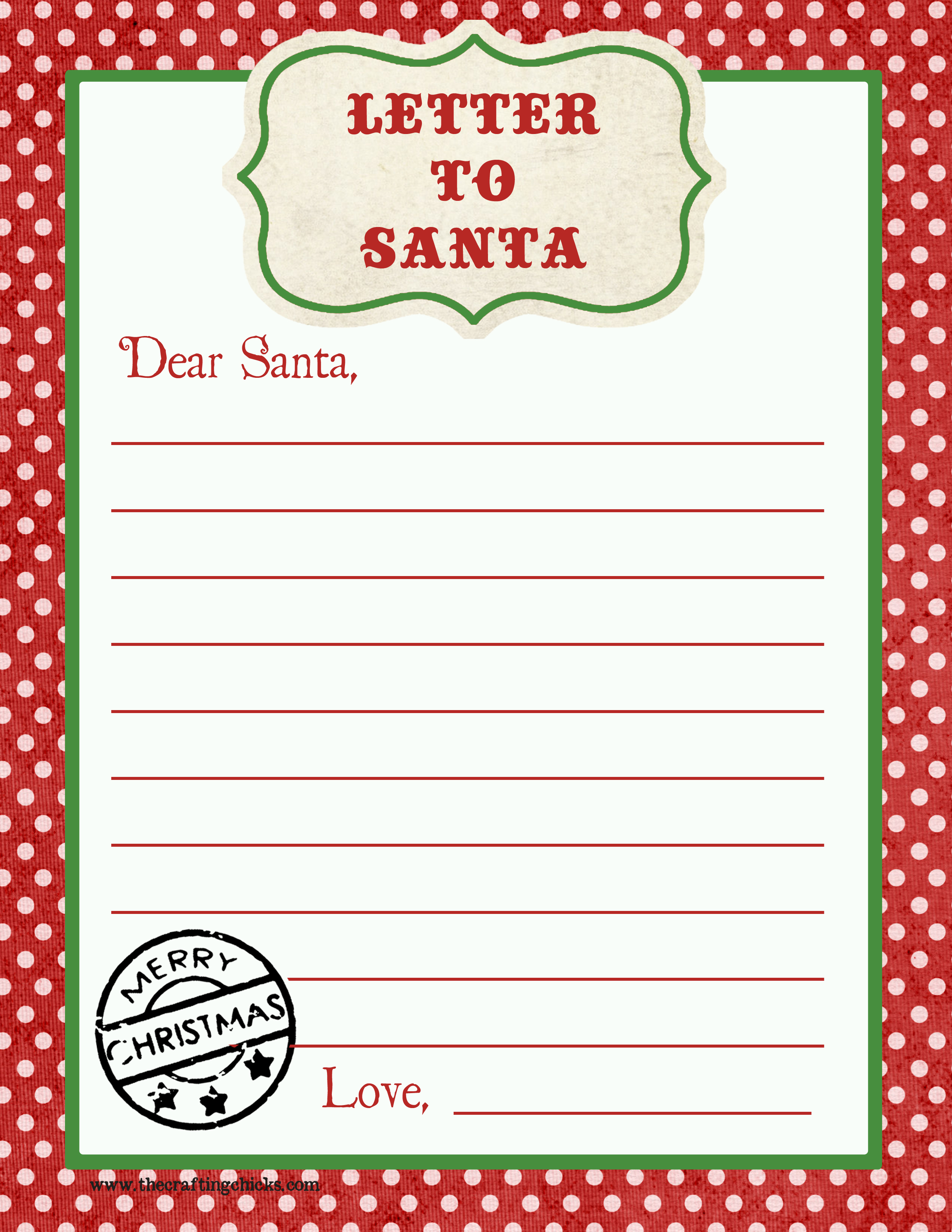 Letter To Santa Free Printable Download - Free Printable Santa Letter Paper