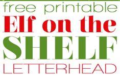 Free Printable Elf Stationery