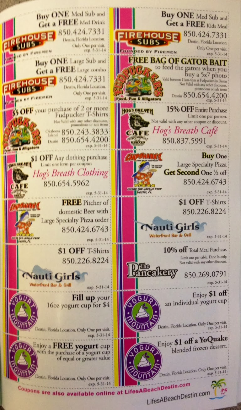 Life's A Beach: Check Out Our Amazing Coupons! - Free Printable Coupons For Panama City Beach Florida