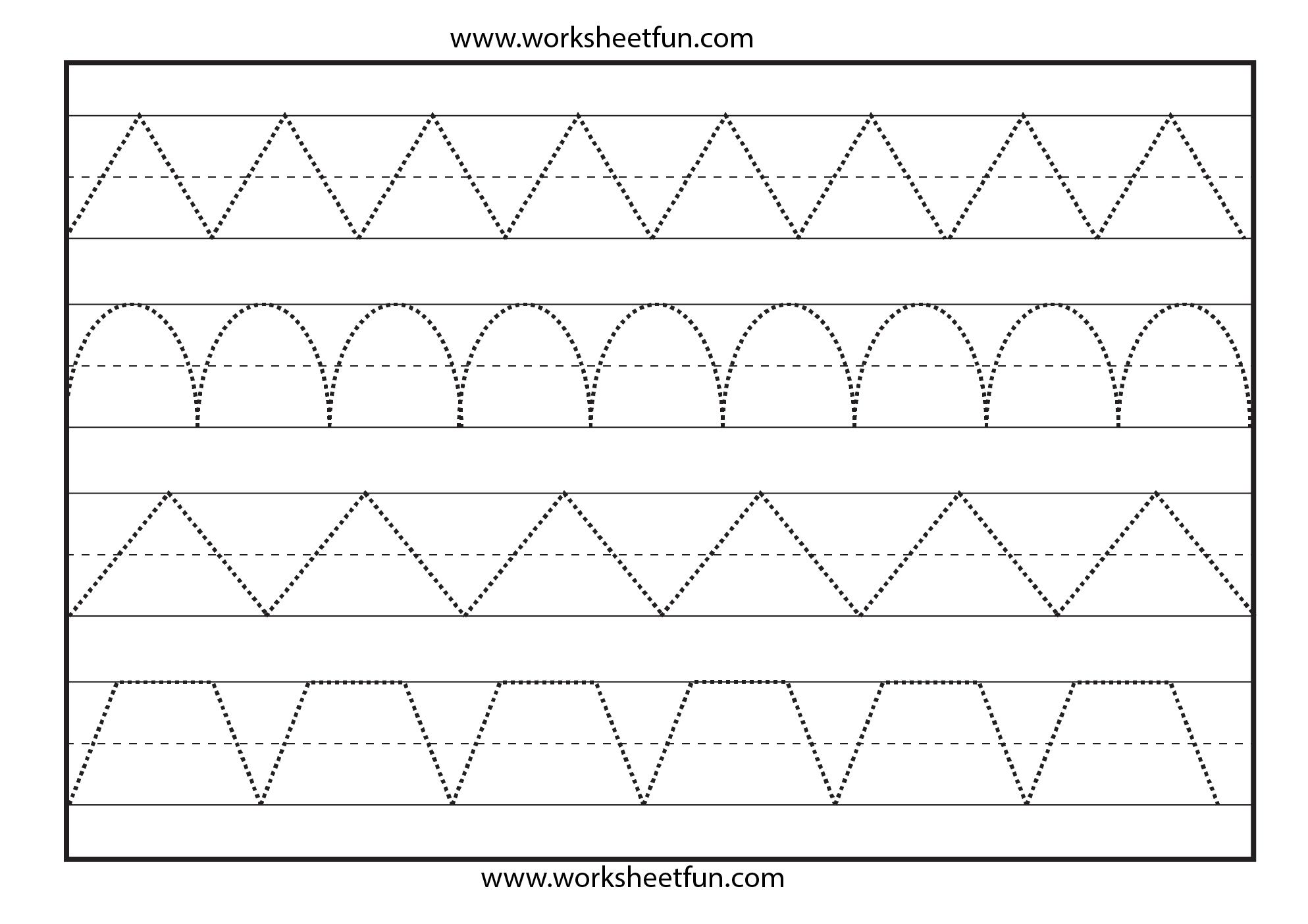 Line Tracing – 1 Worksheet / Free Printable Worksheets – Worksheetfun - Free Printable Tracing Worksheets