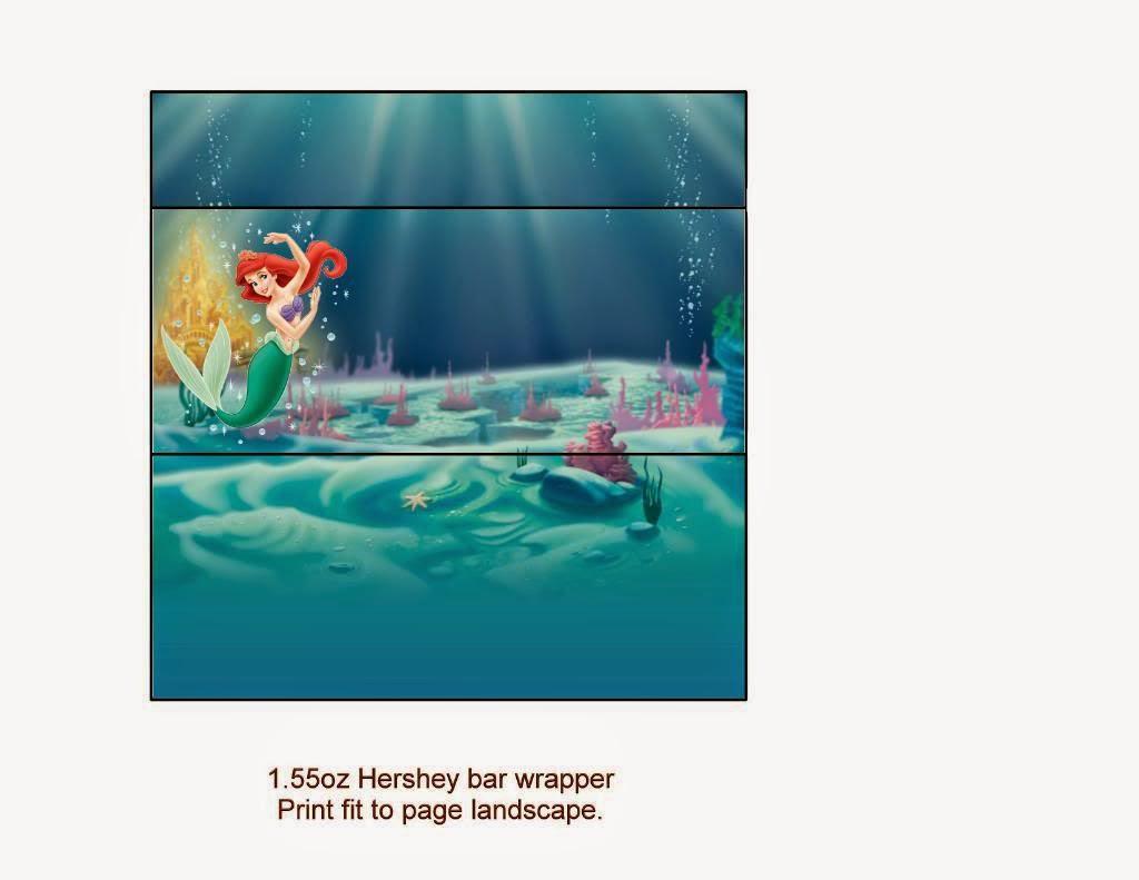 Little Mermaid Free Printables. | Oh My Fiesta! In English - Free Printable Little Mermaid Water Bottle Labels