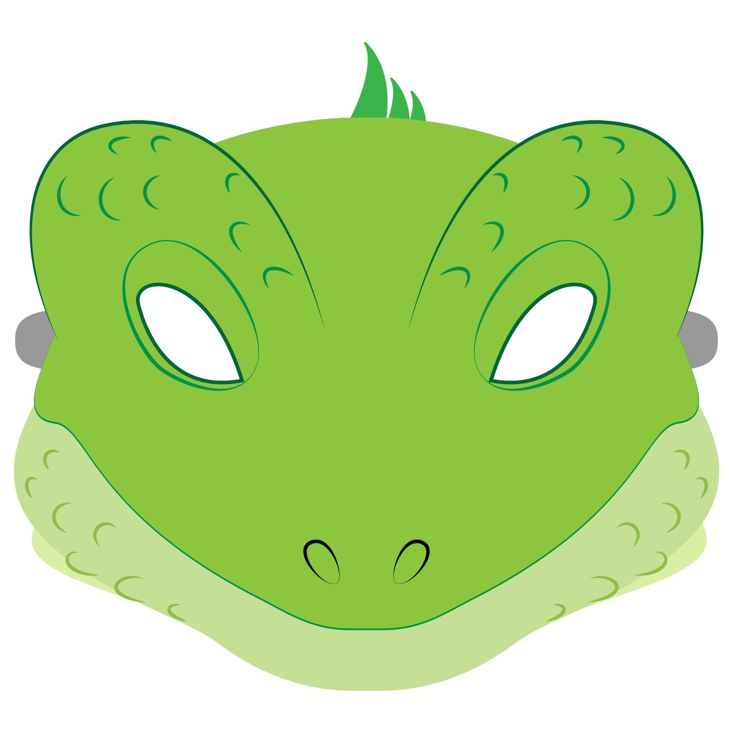Lizard Mask Template | Free Printable Papercraft Templates - Free Printable Lizard Mask