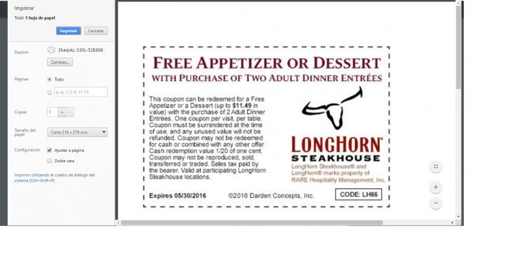 Texas Roadhouse Free Appetizer Printable Coupon 2015