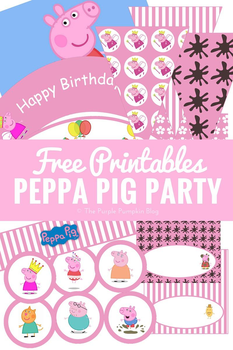 Look No Further For Peppa Pig Party Ideas! Lots Of Fun Ideas - Peppa Pig Birthday Banner Printable Free