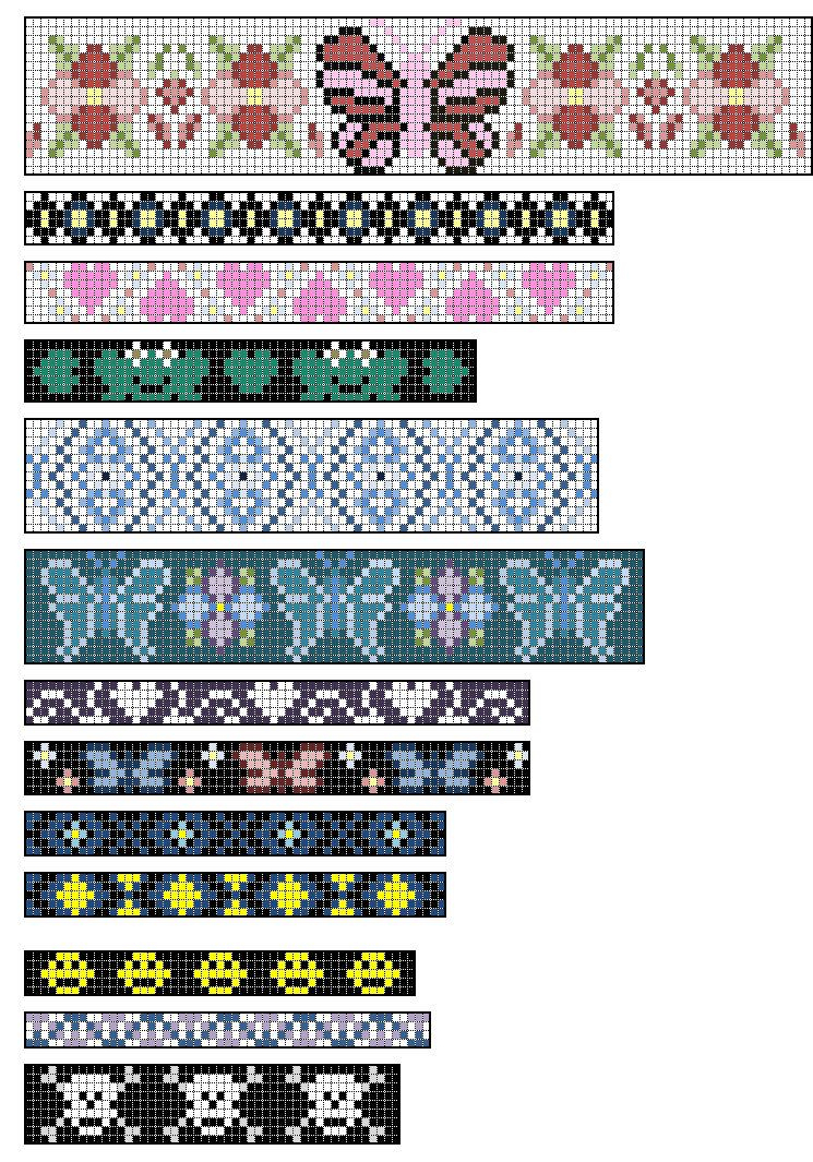 Loom+Beading+Patterns | Native American Split Loom Patterns: Free - Free Printable Loom Bracelet Patterns