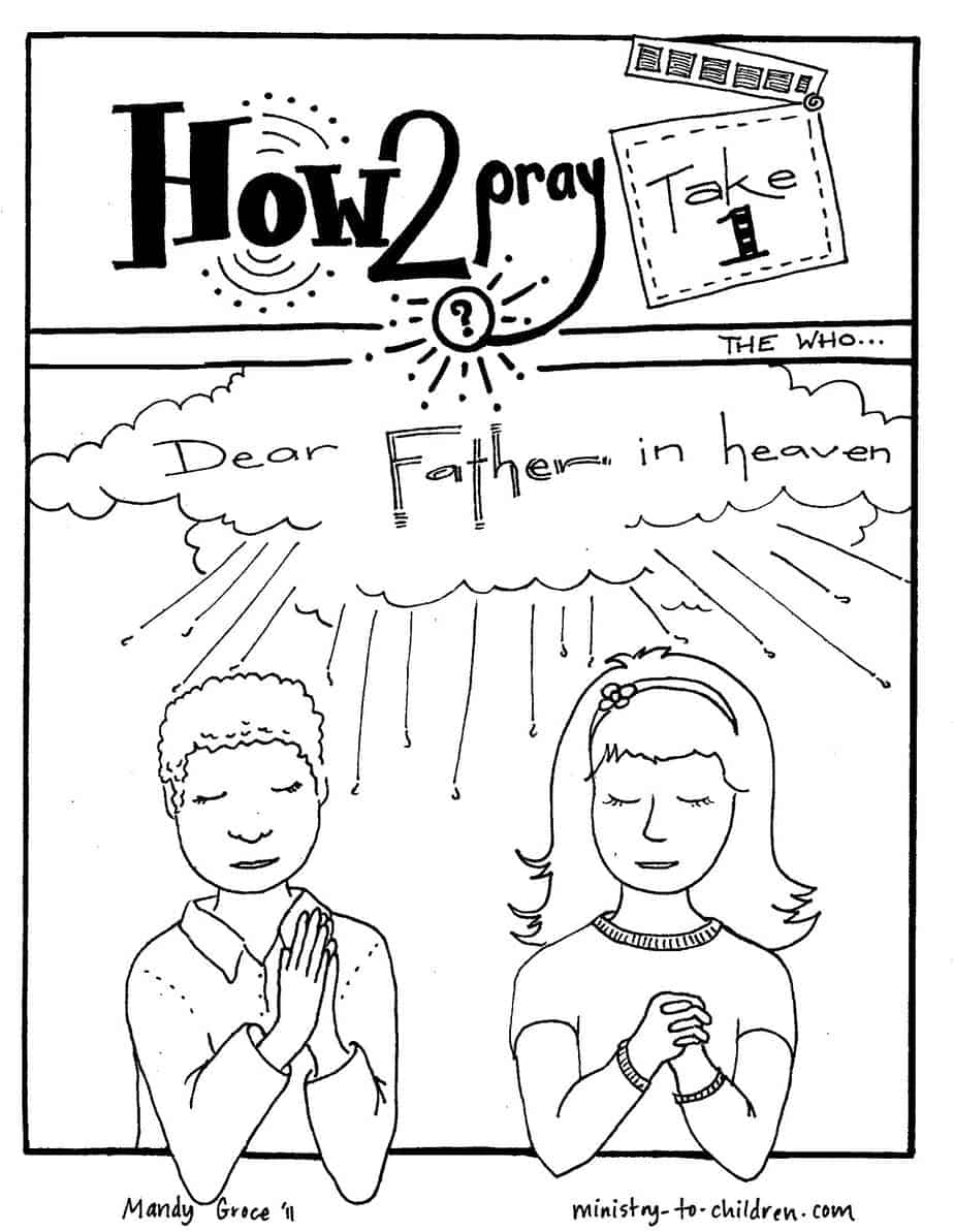 Lord's Prayer Coloring Pages - Free Printable Lord's Prayer Coloring Pages