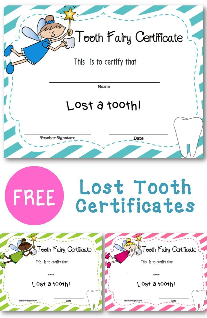 Lost Tooth Certificate | School Ideas | Pinterest | Classroom - Free Printable First Day Of School Certificate