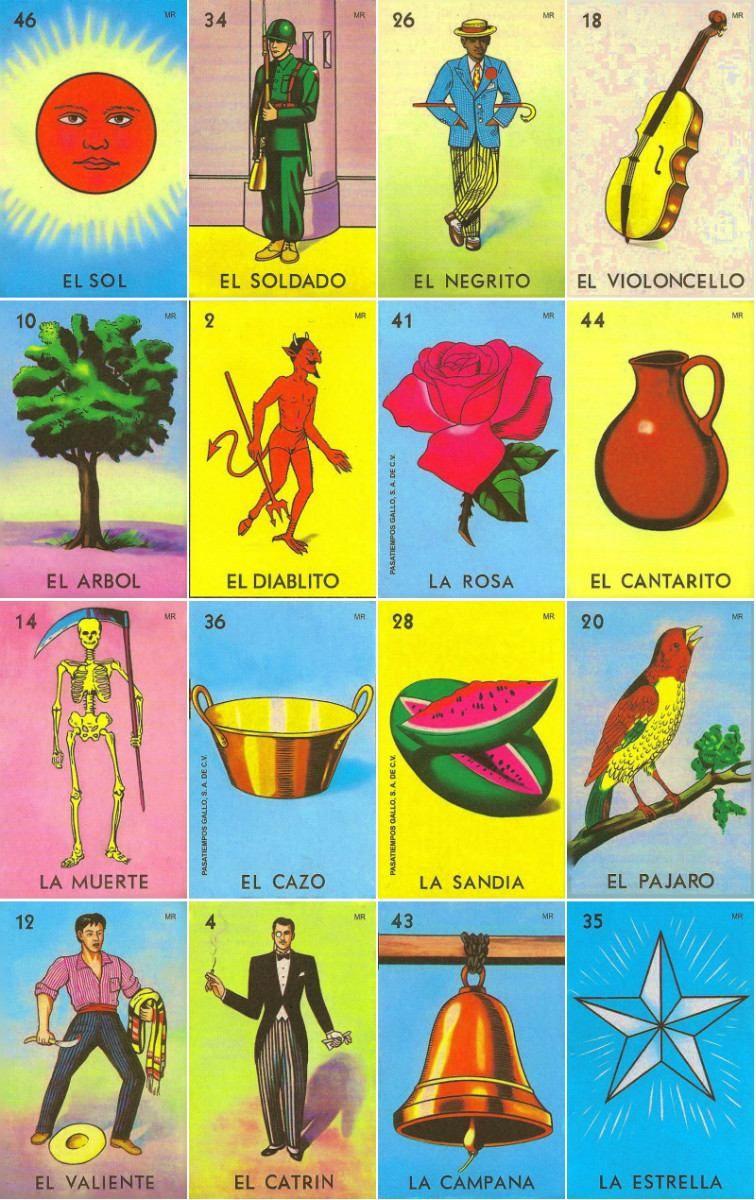 Loteria Mexicana Tradicional   Printable   Mexican Art, Mexico Art - Loteria Printable Cards Free