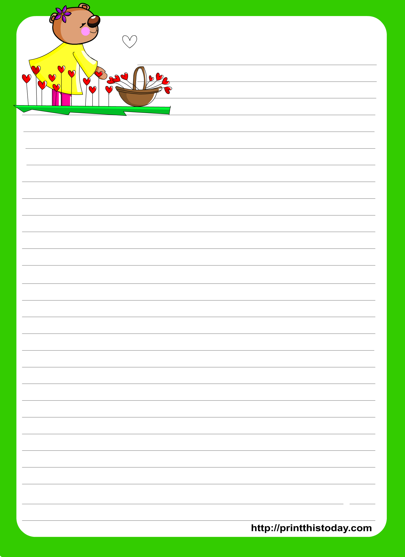 Love Letter Writing Paper - Free Printable Stationary Pdf