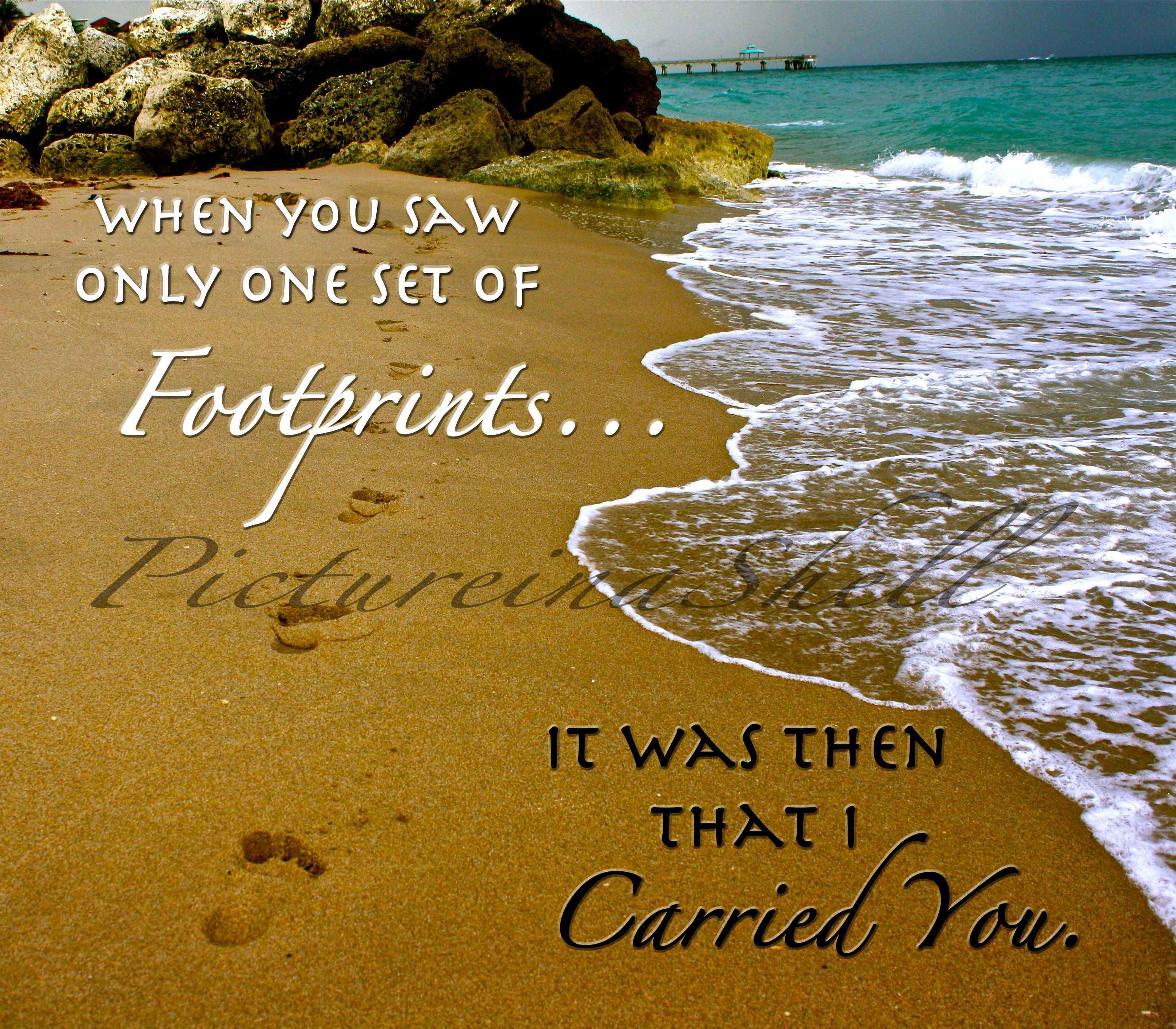 Love This Part Of The Footprints In The Sand Poem! When I'm - Footprints In The Sand Printable Free
