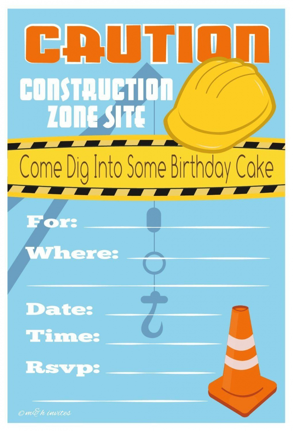 Lovely Free Printable Construction Birthday Invitation Templates - Free Printable Construction Birthday Invitation Templates