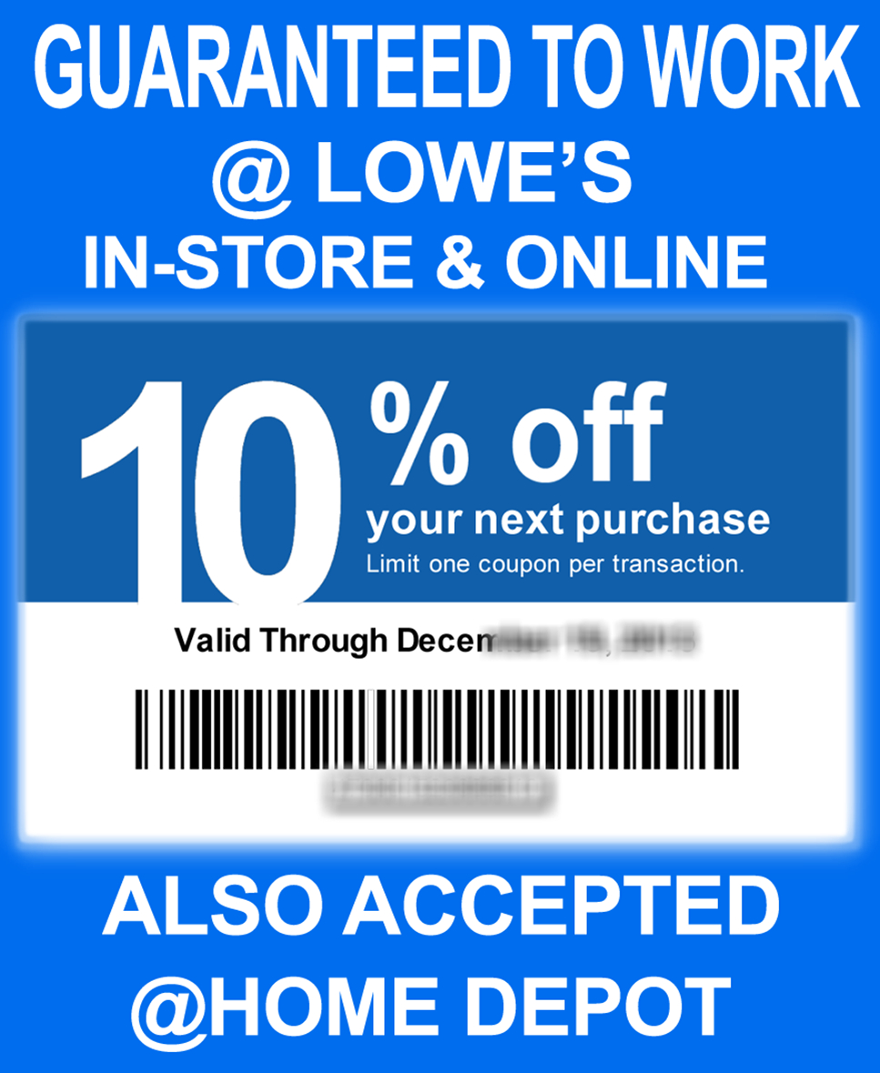 Lowe's Coupons & Promo Codes – Using Some Elbow Grease Along With A - Free Printable Lowes Coupon 2014