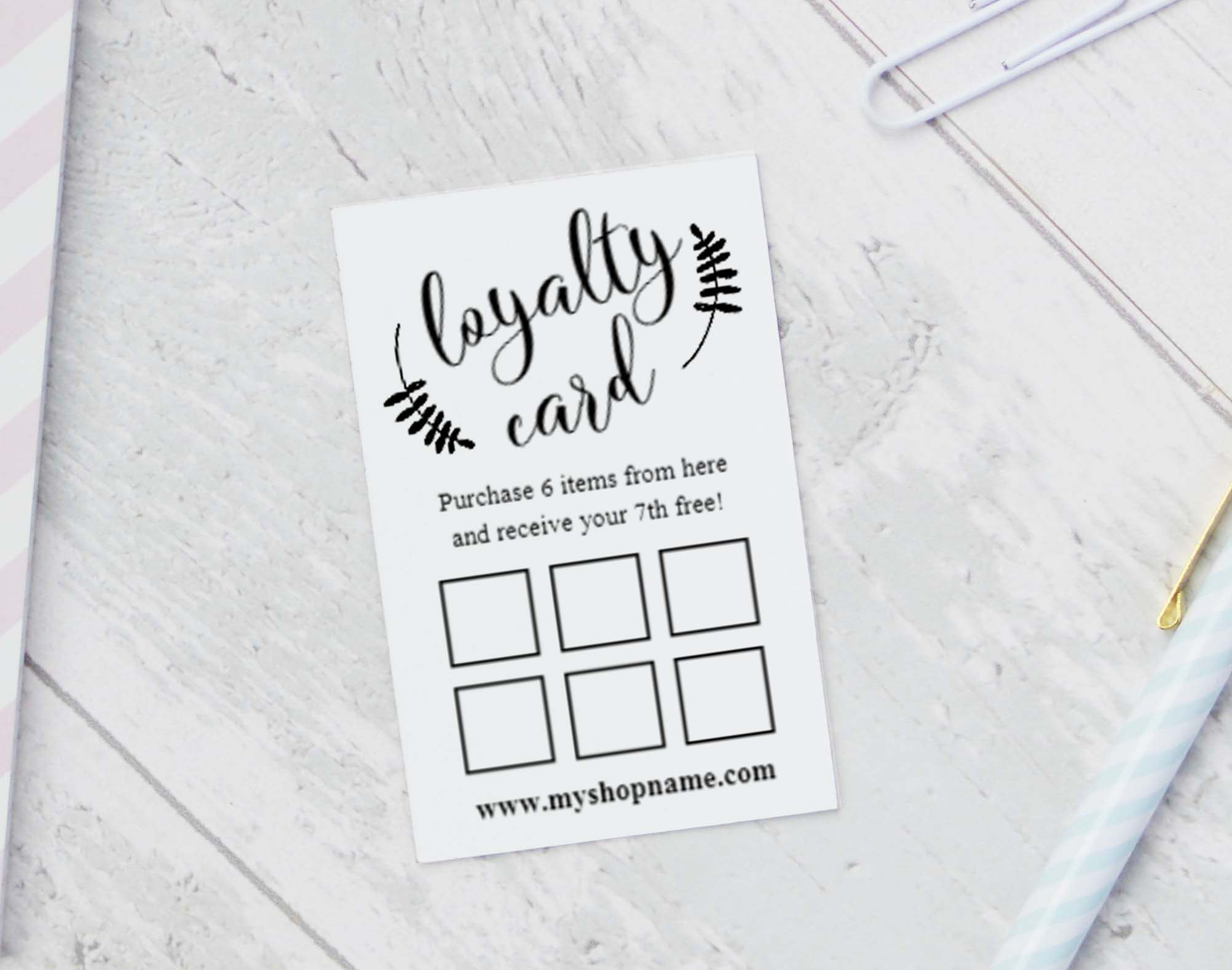 Loyalty Card Templates Instant Download Editable Reward | Etsy - Free Printable Loyalty Card Template