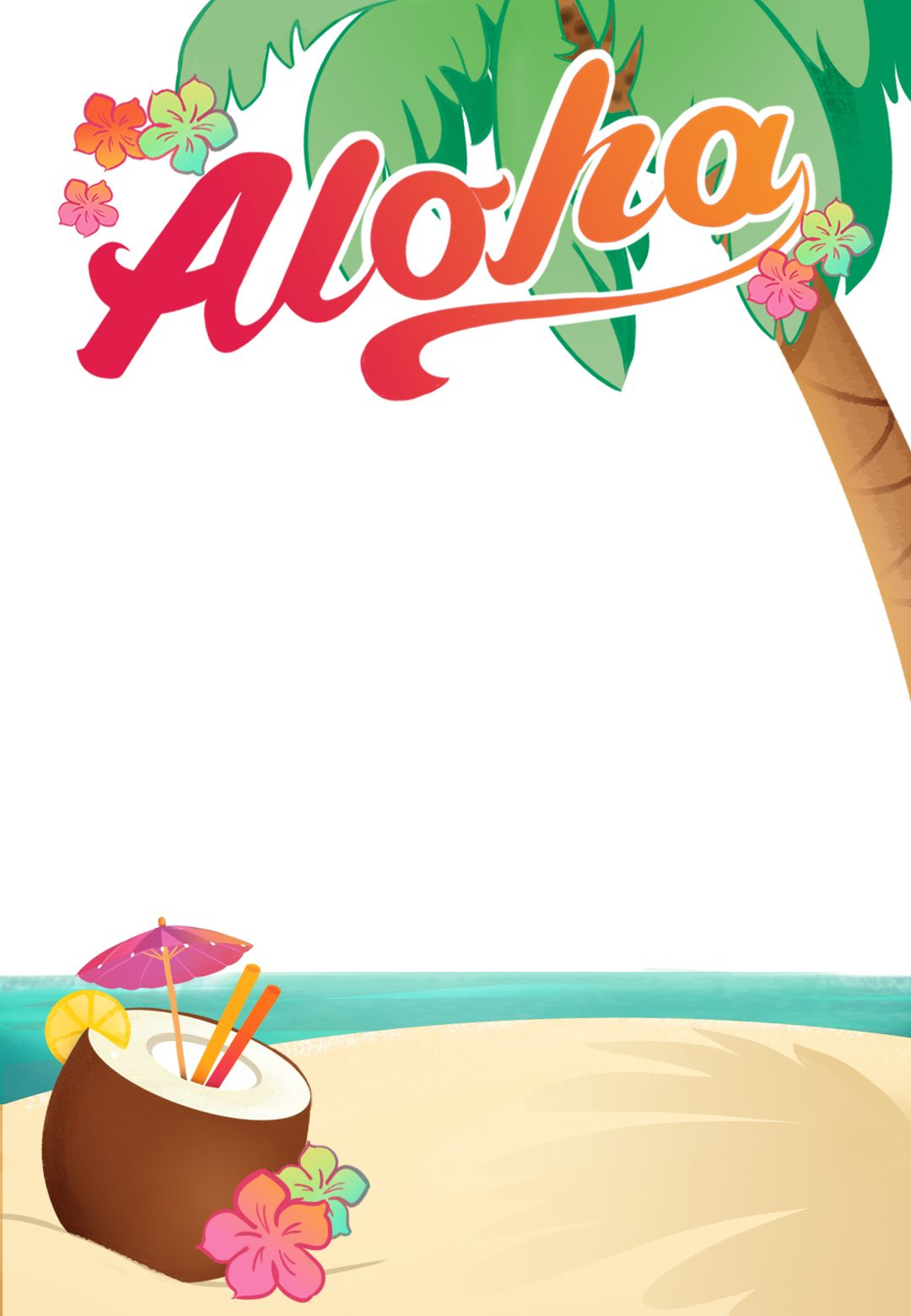 Luau Party - Free Printable Summer Party Invitation Template - Free Stork Party Invitations Printable