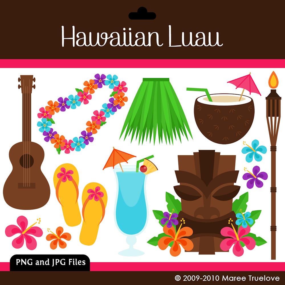Luau Printable Clipart - Free Printable Luau Clipart