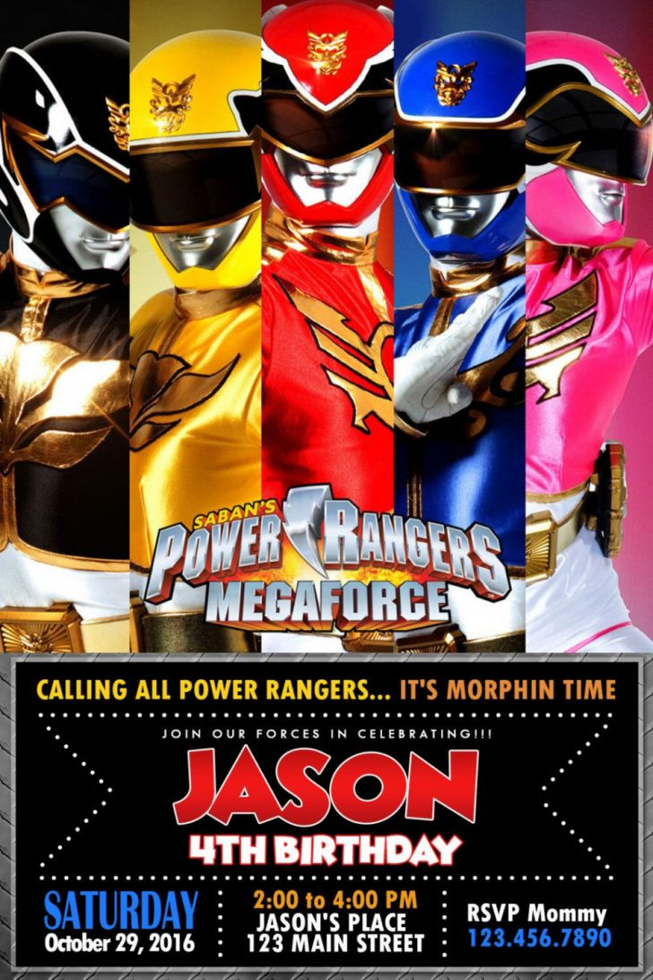 Free Printable Power Ranger Birthday Invitations