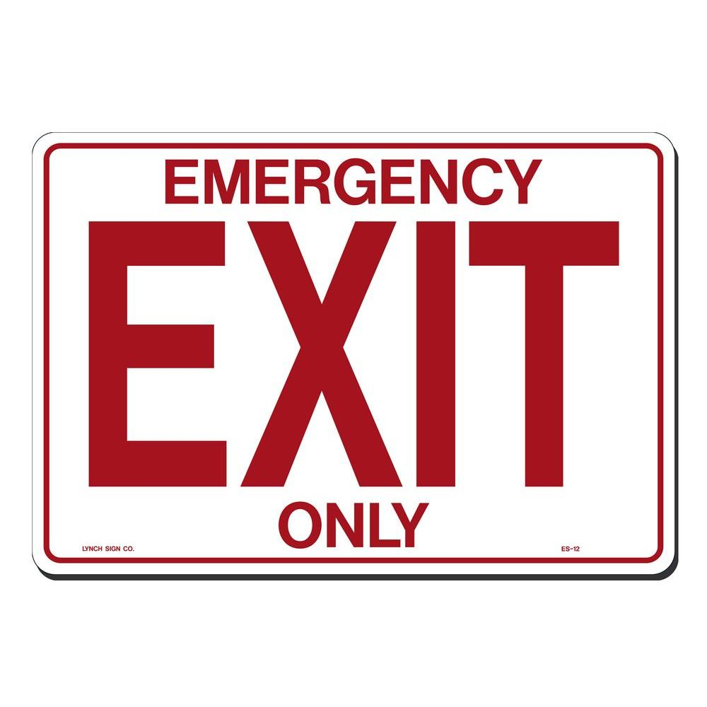 Lynch Sign 14 In. X 10 In. Emergency Exit Only Sign Printed On More - Free Printable Exit Signs With Arrow