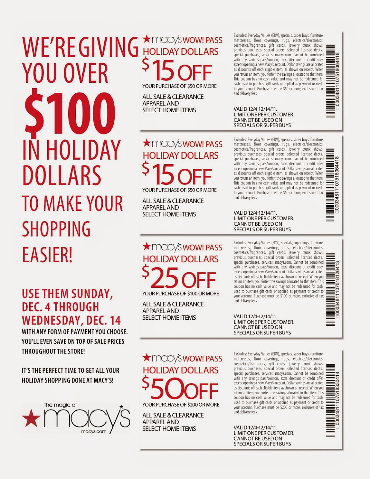 Macy's-10-Off Coupon-Code - Free Printable Coupons 2017