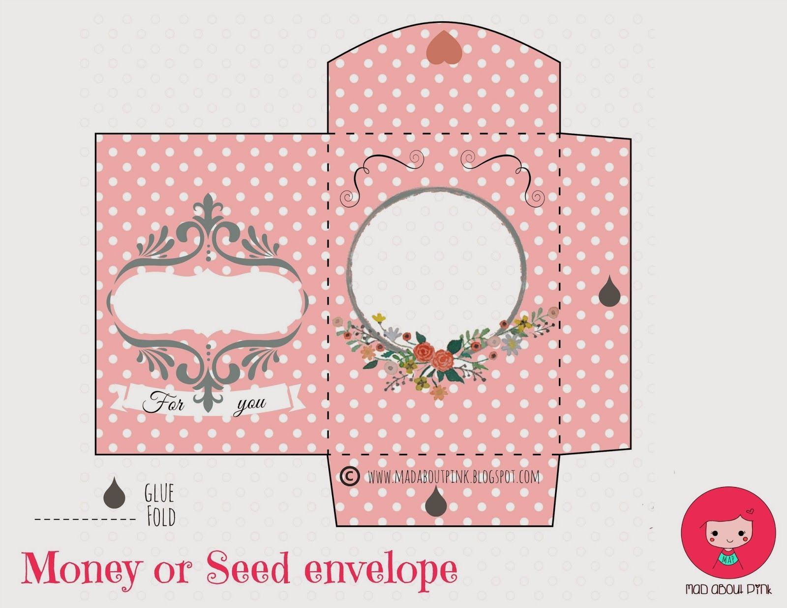 Mad About Pink: Freebie | Papercrafts | Pinterest | Printable Gift - Free Printable Money Envelopes