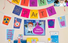 Free Printable Science Birthday Party Invitations