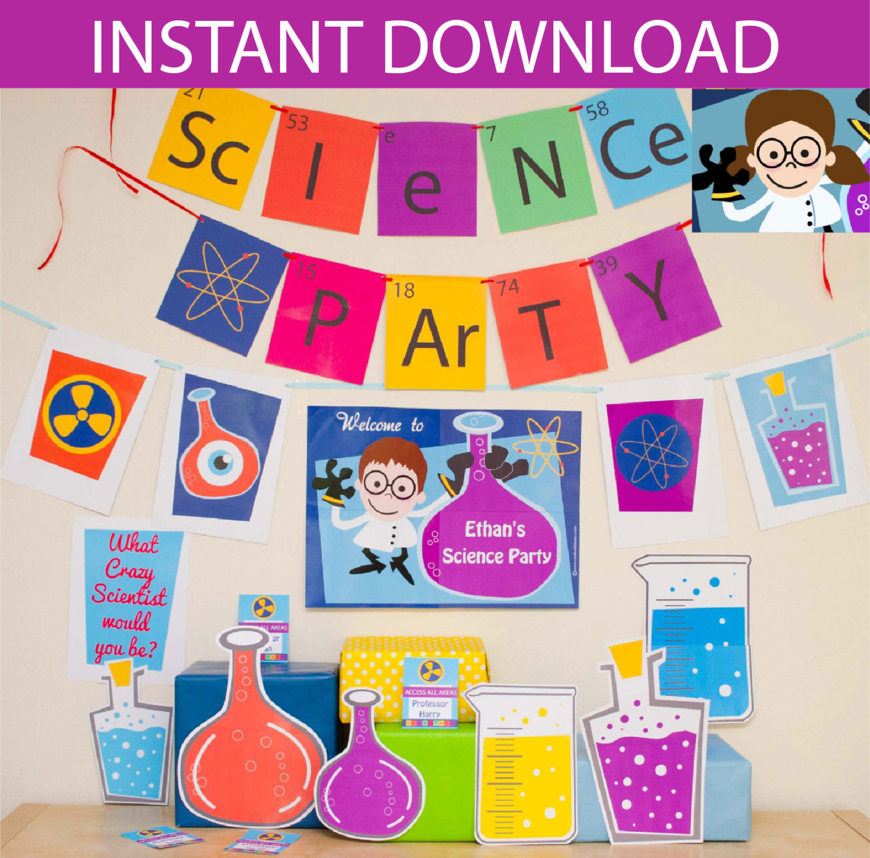Mad Scientist Birthday Party Invitation Printable X Nice Free - Free Printable Science Birthday Party Invitations