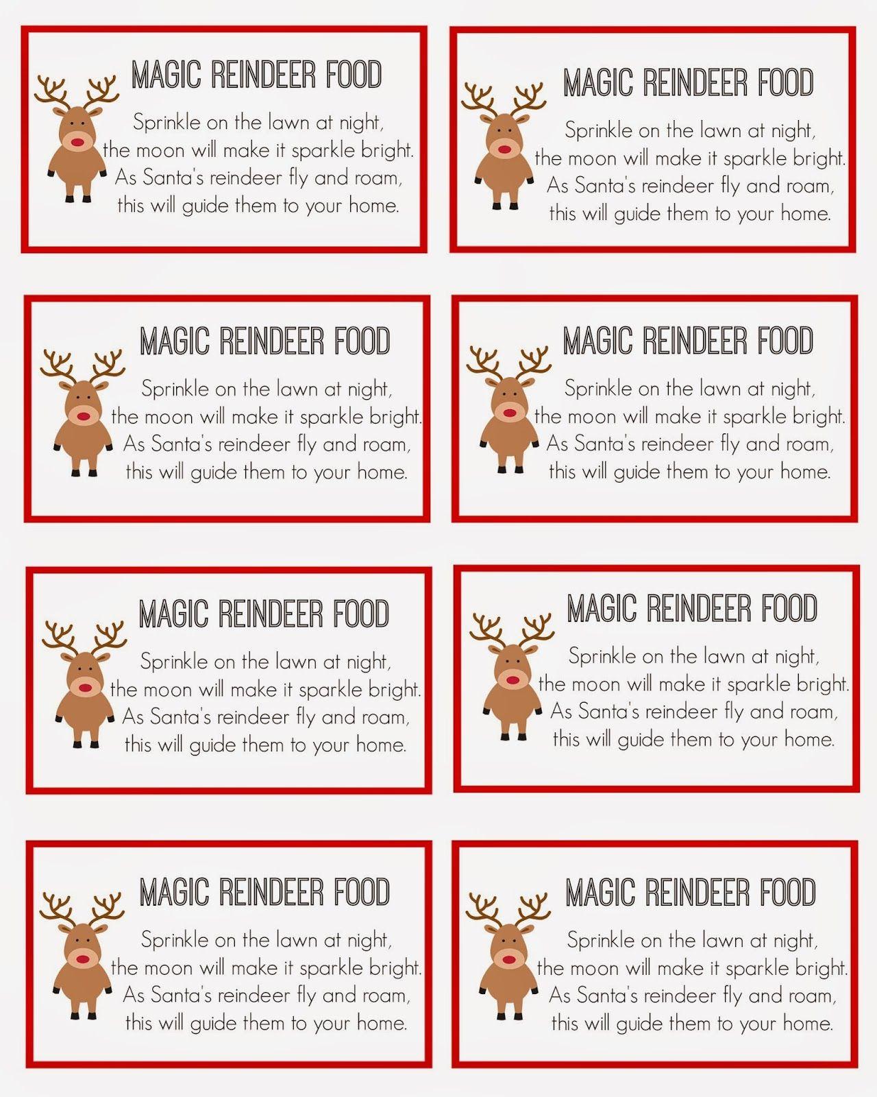 Magic Reindeer Food   Christmas   Magic Reindeer Food, Reindeer Food - Reindeer Food Poem Free Printable