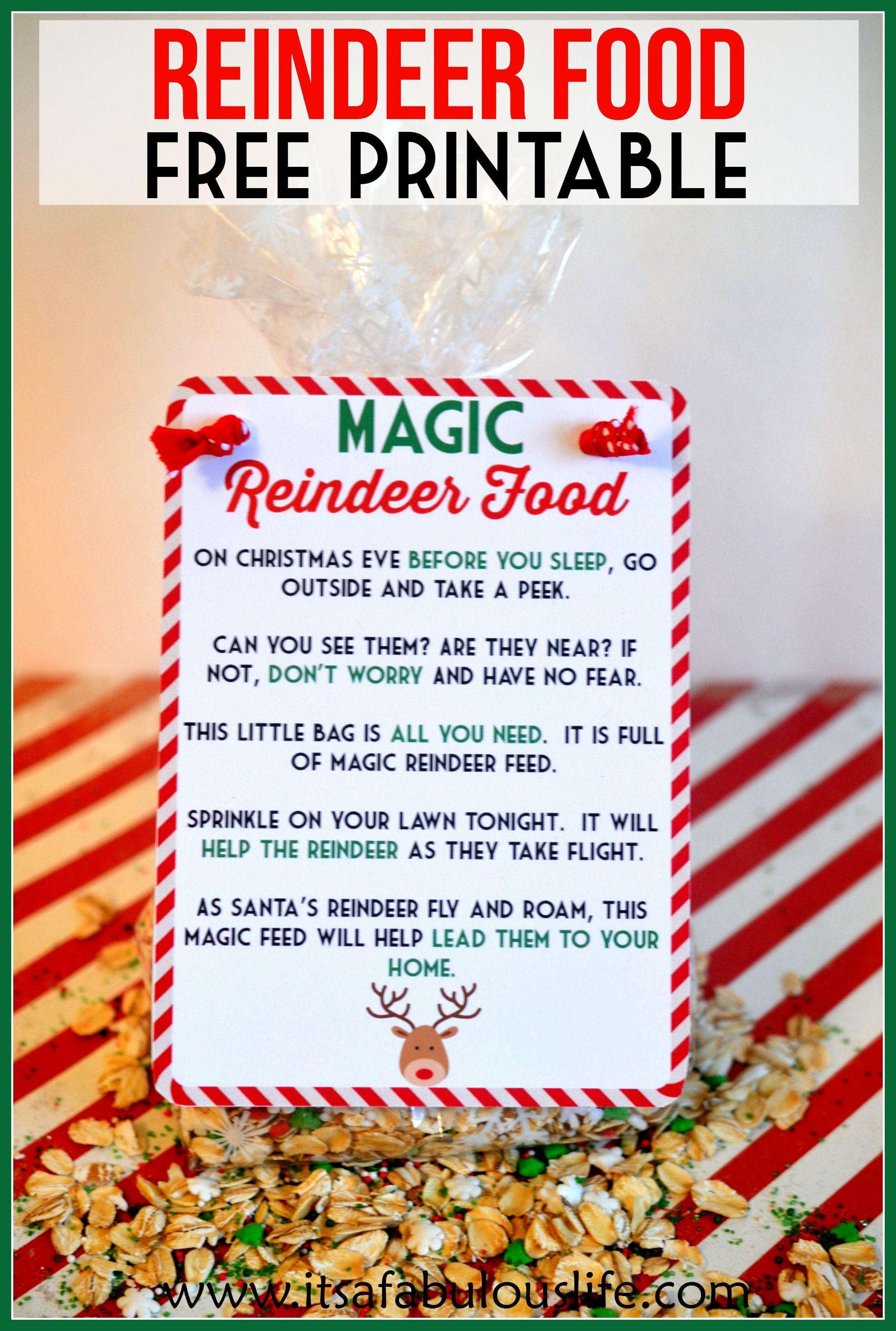 """Magic Reindeer Food Poem & Free Printable   """"hometalk & Funky Junk - Reindeer Food Poem Free Printable"""