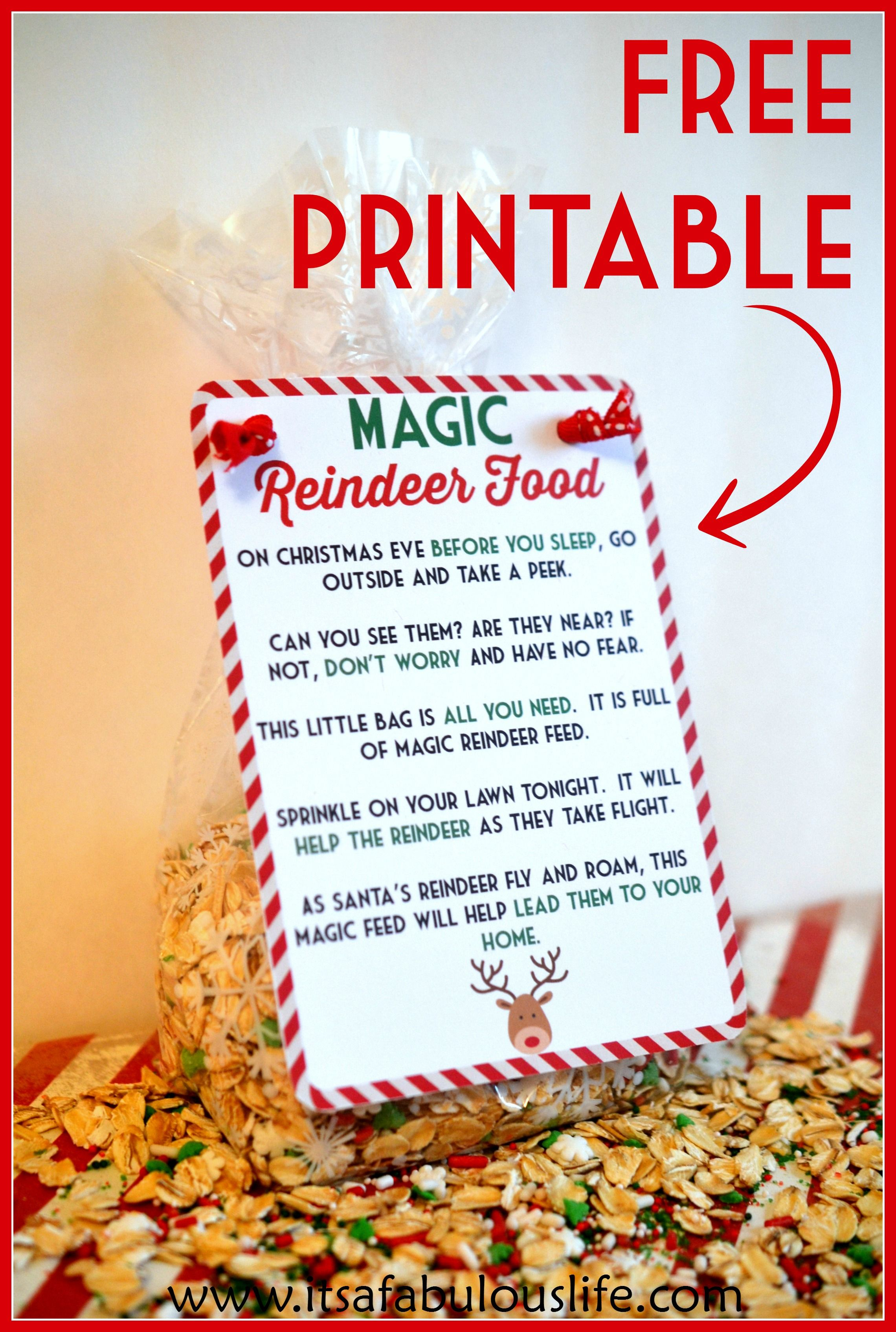Magic Reindeer Food Poem & Free Printable   Little People, Big - Reindeer Food Poem Free Printable