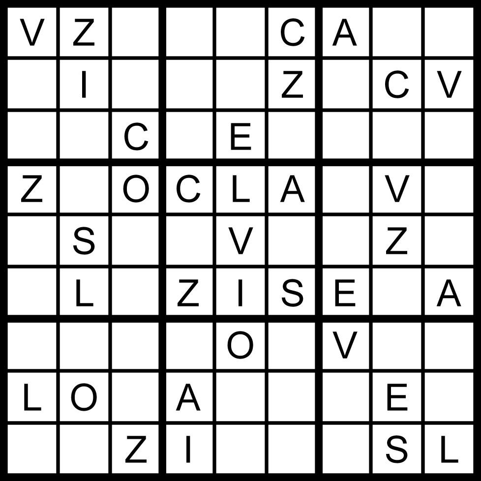 Magic Word Square: March 2011 - Free Printable Futoshiki Puzzles