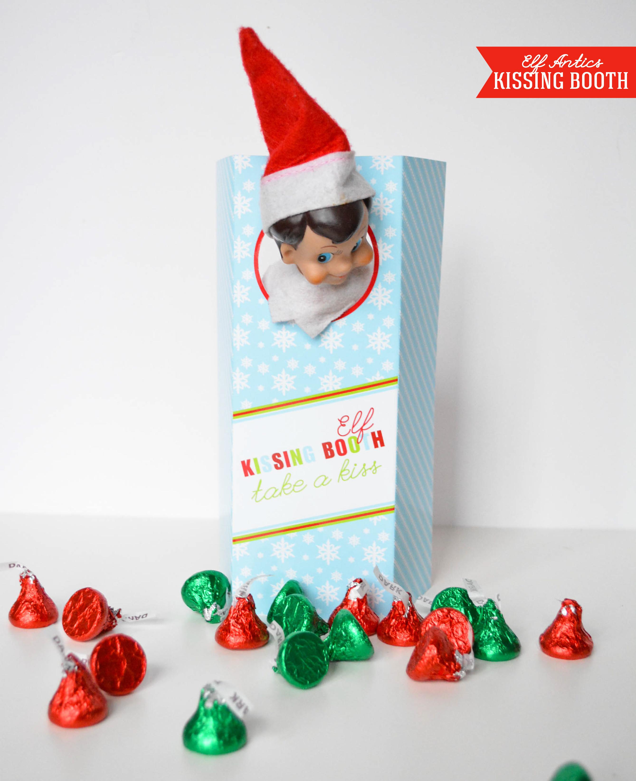 Magical Elf Antics - New To The Shop - Anders Ruff Custom Designs, Llc - Elf On The Shelf Kissing Booth Free Printable